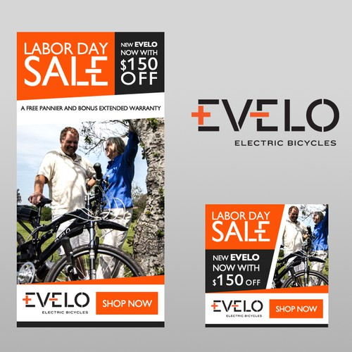 Banner ad design for electric bicycles