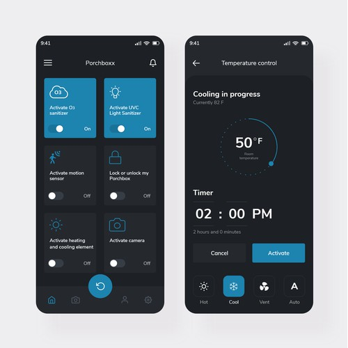 Electronic Package Delivery Box App Design