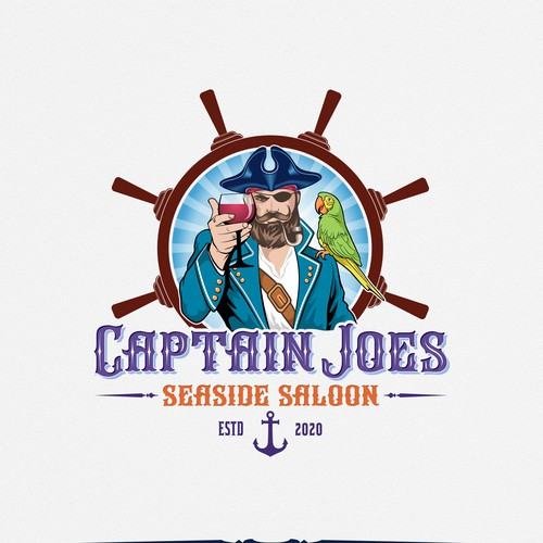 logo concept for seaside saloon
