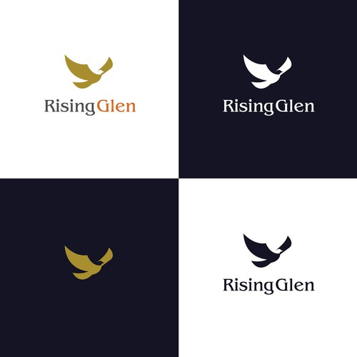 Simple logo concept for Rising Glen