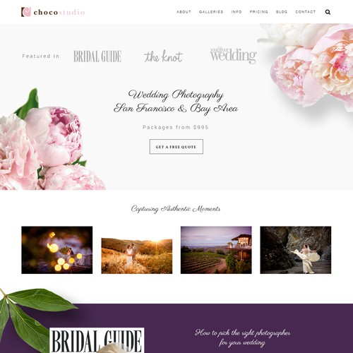 Website Design for San Francisco Wedding Photographers