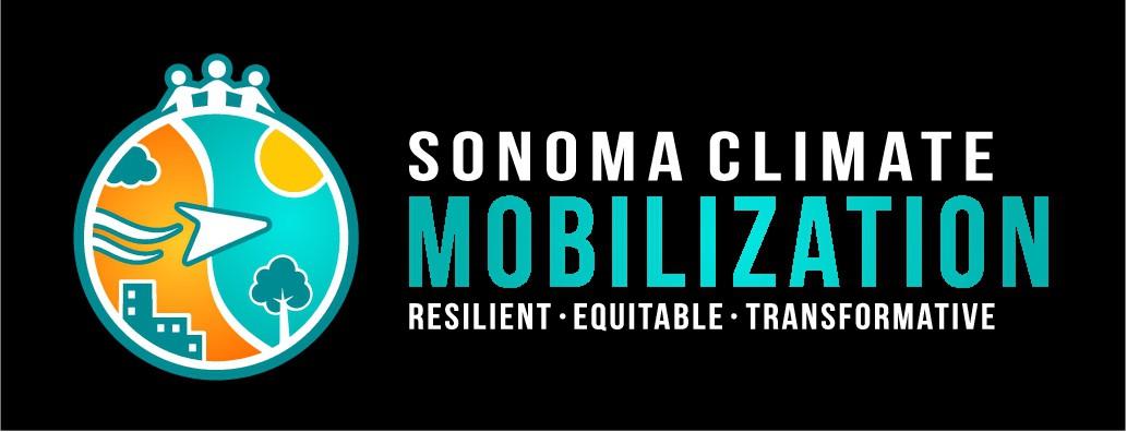 Inclusive logo for climate movement in Sonoma County