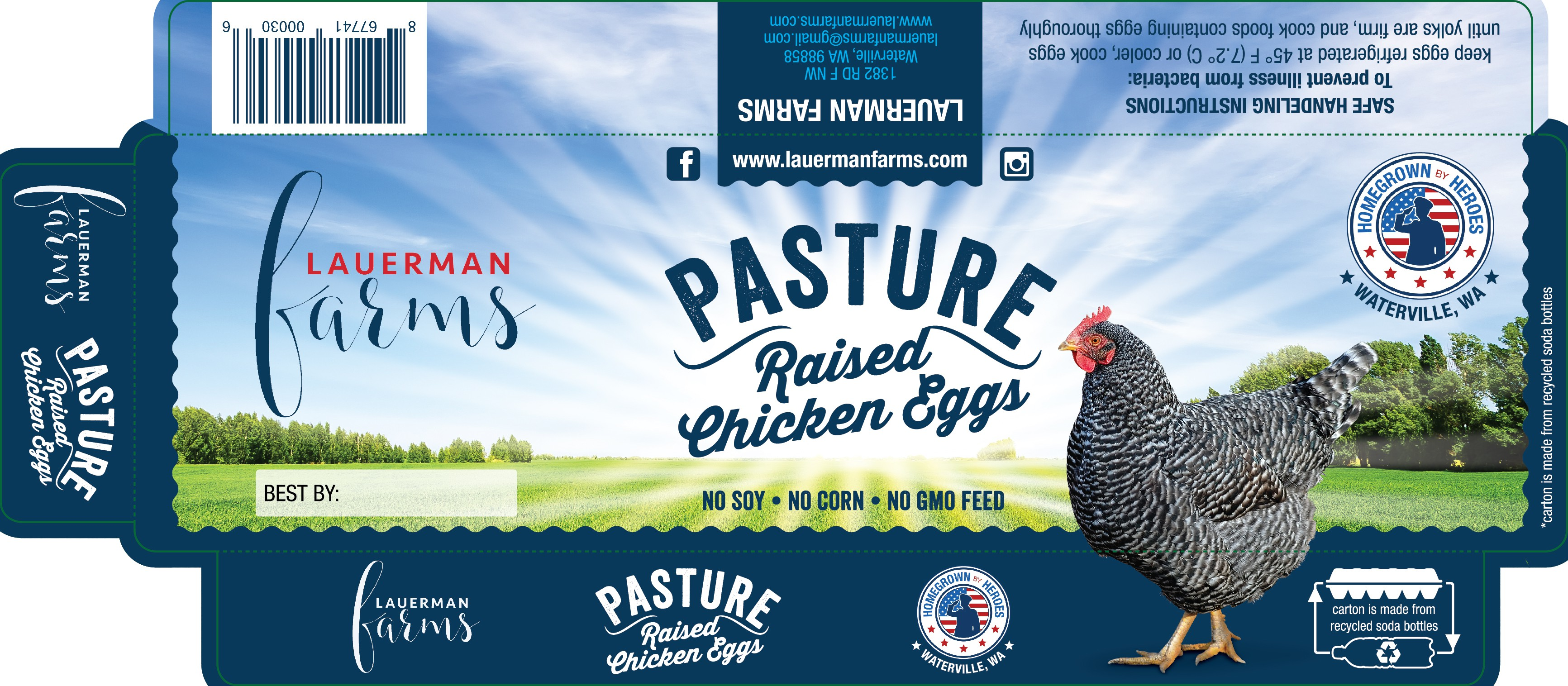Help us sell more pasture raised chicken eggs with a fresh new label.