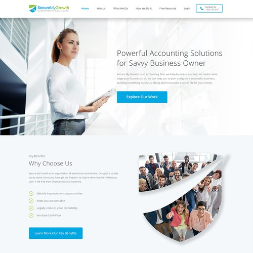 Wordpress website design for SecureMyGrowth