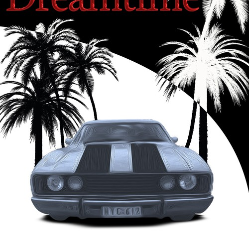 ON THE RUN IN DREAMTIME - two men in a fast car when roads were free