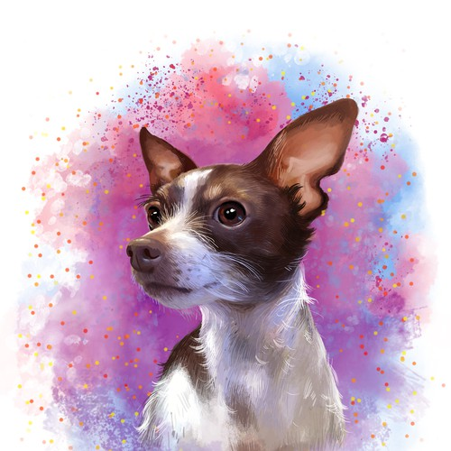 Bitsy dog portrait
