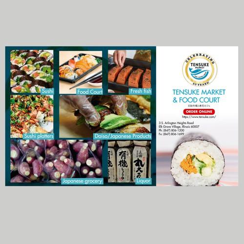 Flyer for food market