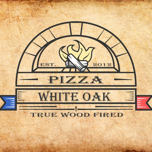 logo for White Oak Wood Fired Pizza