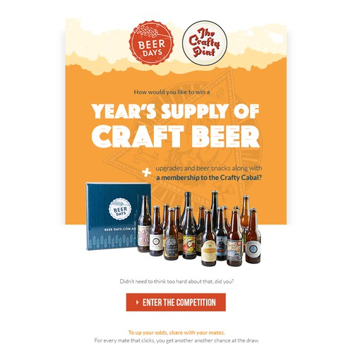 Promotional email for Craft Beer Company $200 Finished  by cam.elliot79