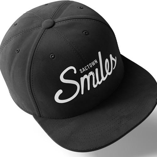 hat design - typography