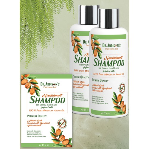 A natural shampoo label