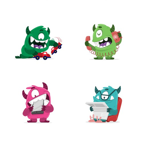 8 monster characters