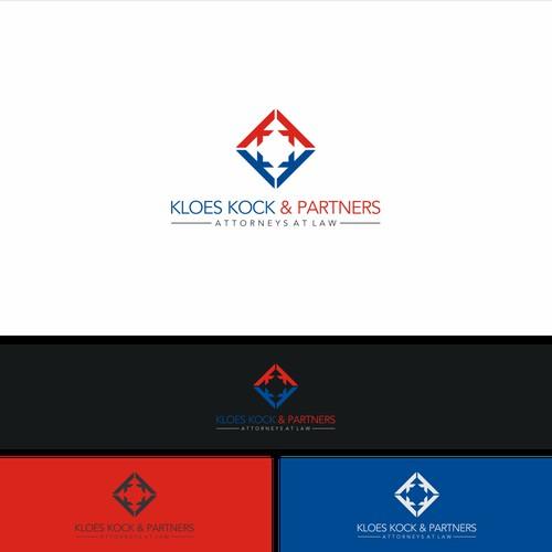 geometric logo for Klos Kock