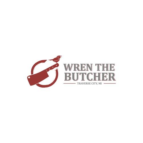 """Logo for """"Wren the Butcher"""""""