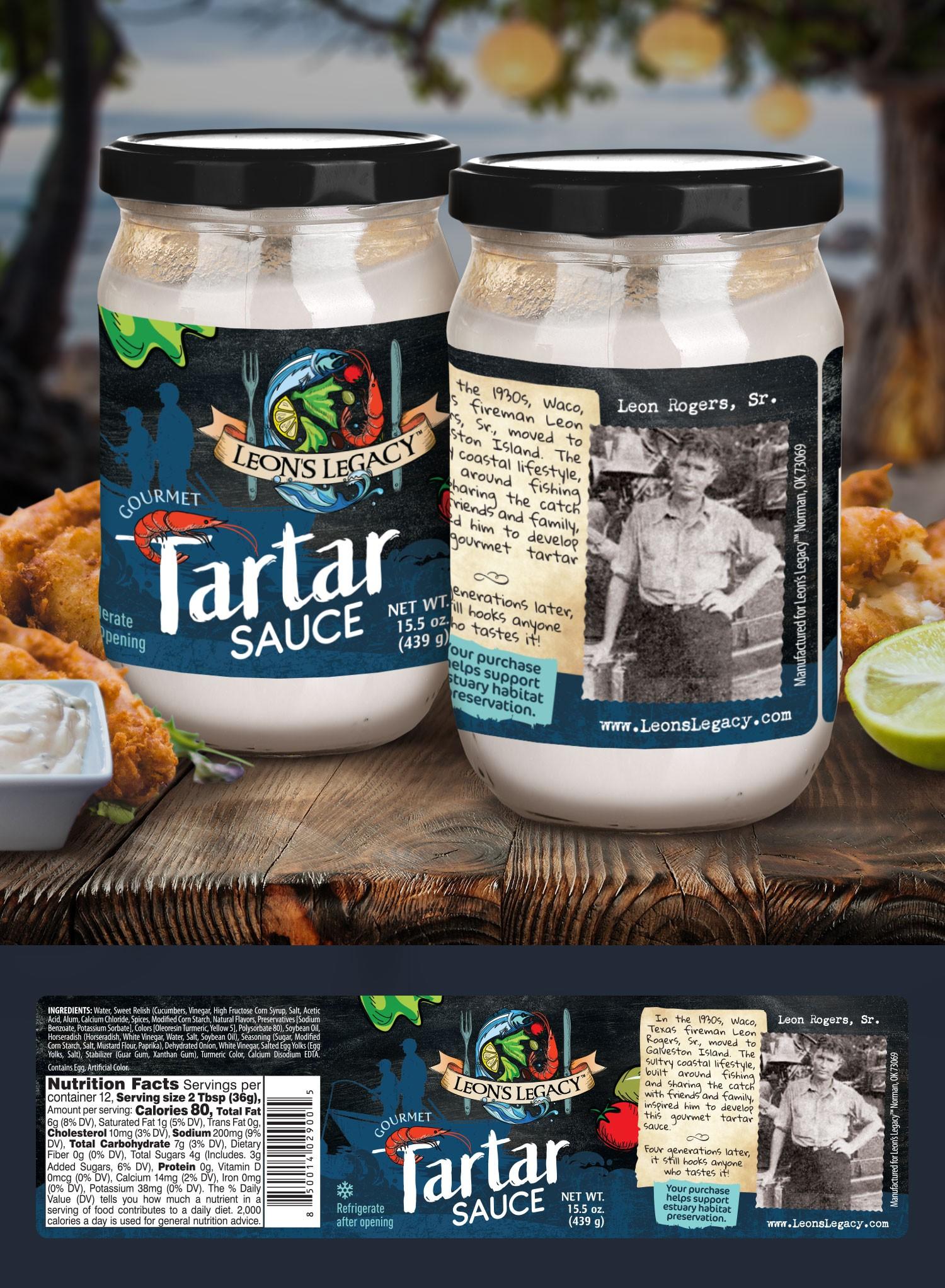 Leon's Legacy Gourmet Tartar Sauce Label Revisions