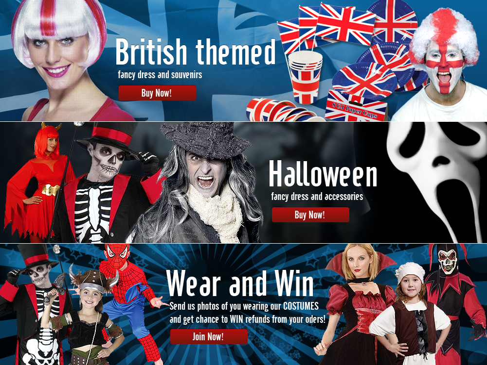 Create the next banner ad for 1st4 Fancy Dress