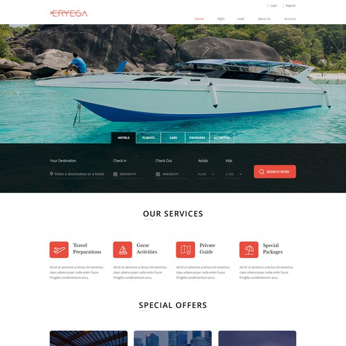 Modern Design For A travel Agency