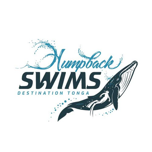 Logo for company who take people to swim with HUMPBACK WHALES in Tonga