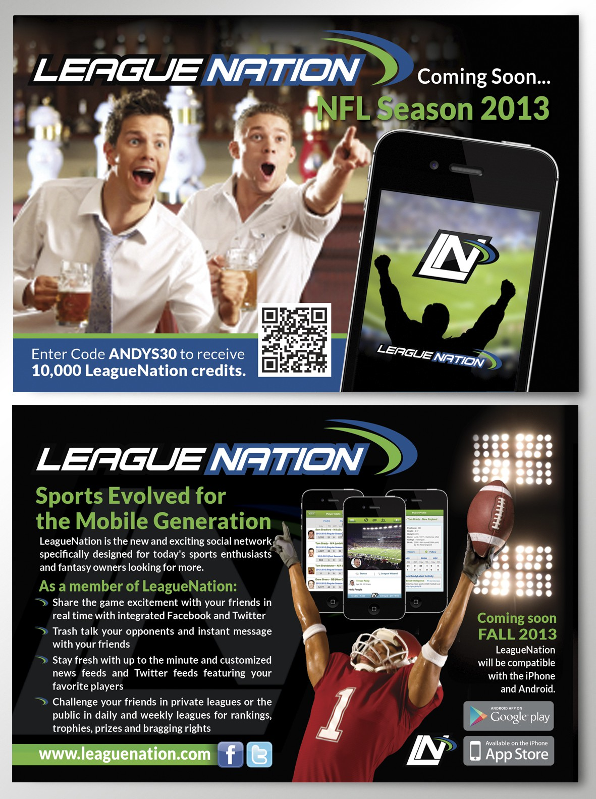 New postcard or flyer wanted for LeagueNation