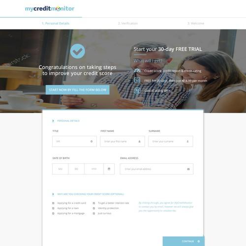 Credit monitor web design