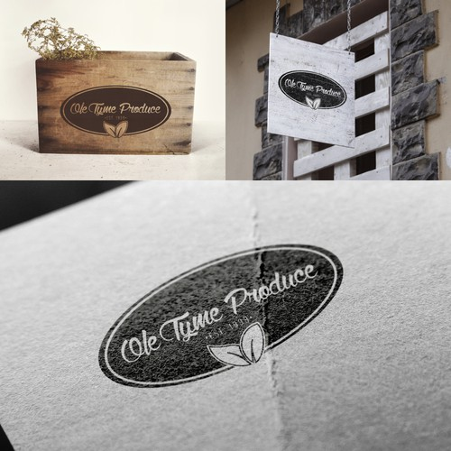 Vintage look logo for a produce company