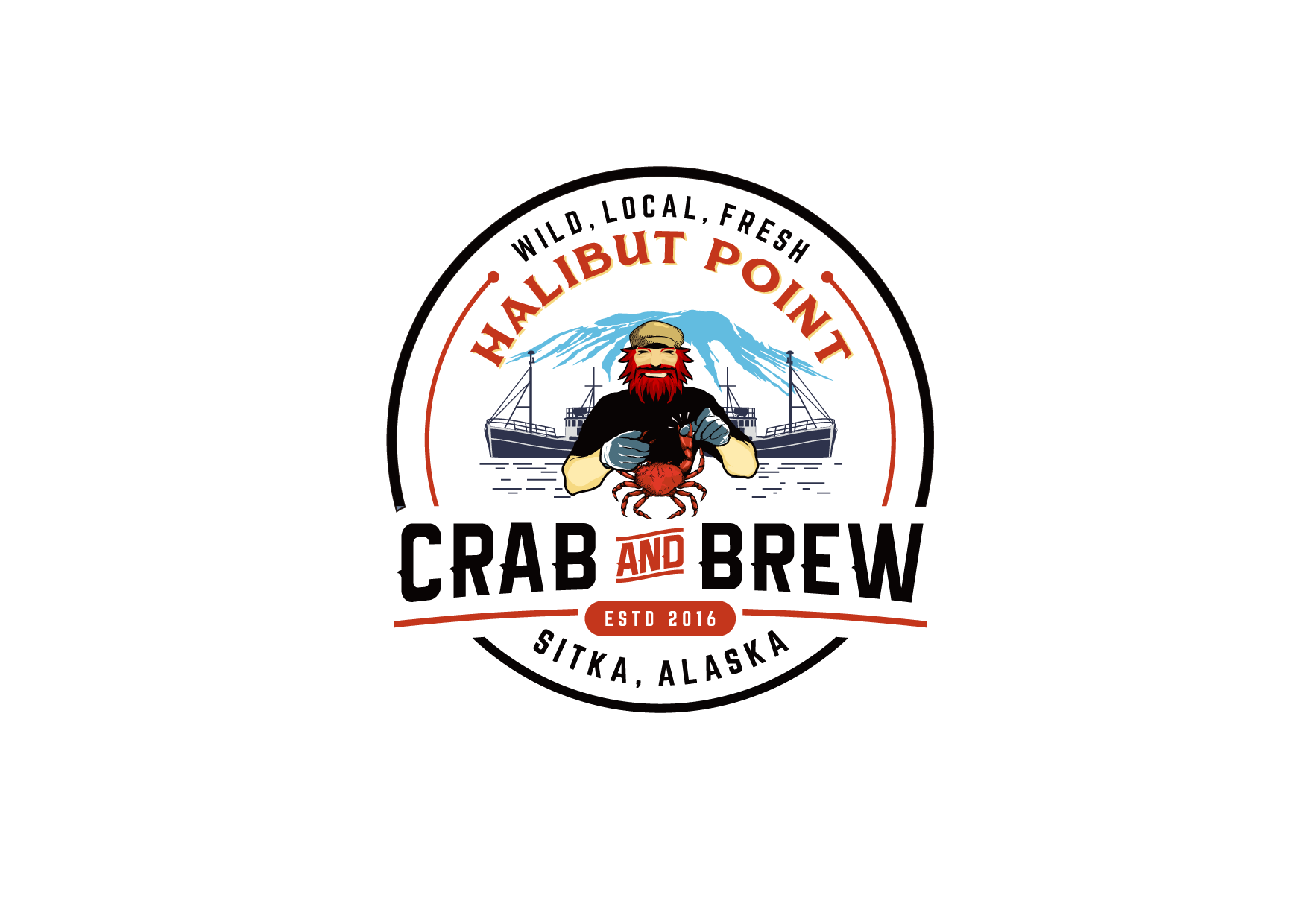 crab restaurant looking for creative conversation-starting logo