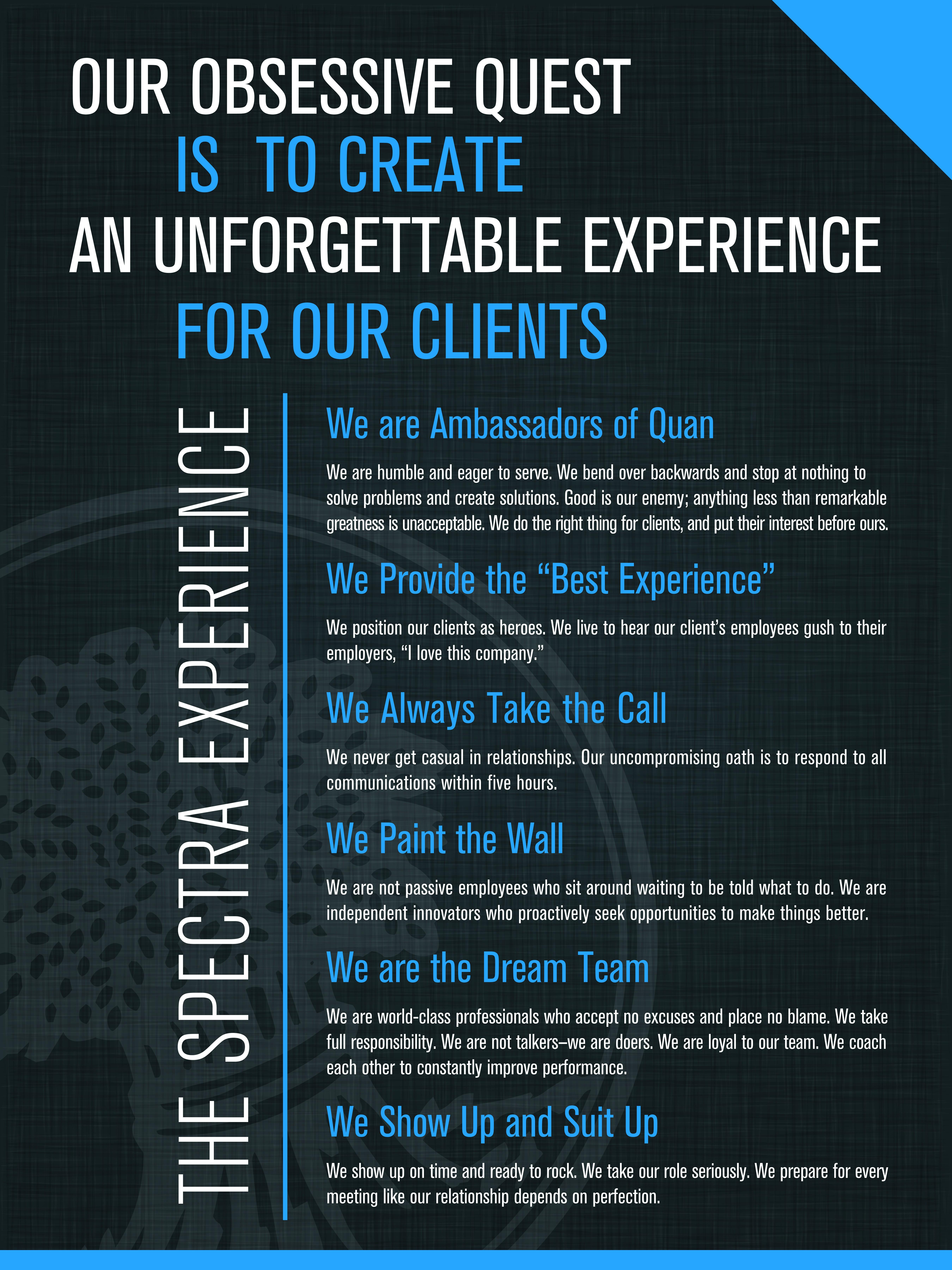 Typographic Manifesto Poster for Spectra Benefits