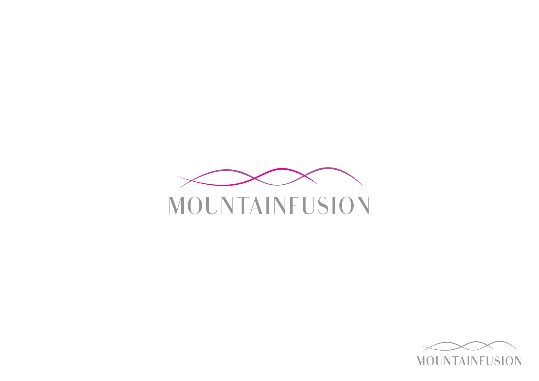 Warm, inviting logo for Mountain Infusion skincare