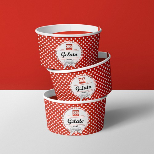 Gelato To go cups designs