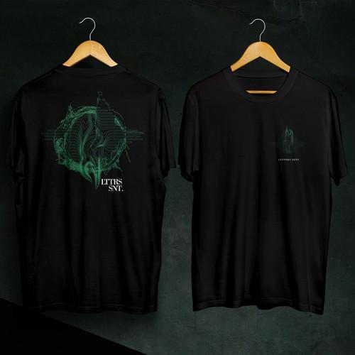 LETTERS SENT T-shirt concept