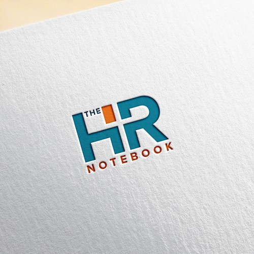 Modern logo concept for HR notebook