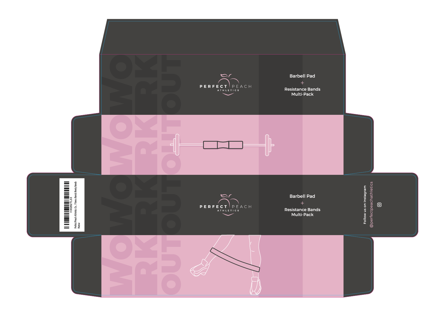 Packaging for a fitness bundle pack