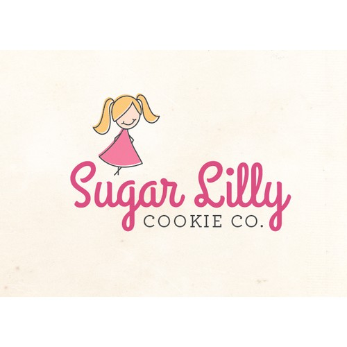 Create a fun vintage illustration for Sugar Lilly Cookie Co