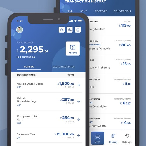 Multi-currency Wallet App