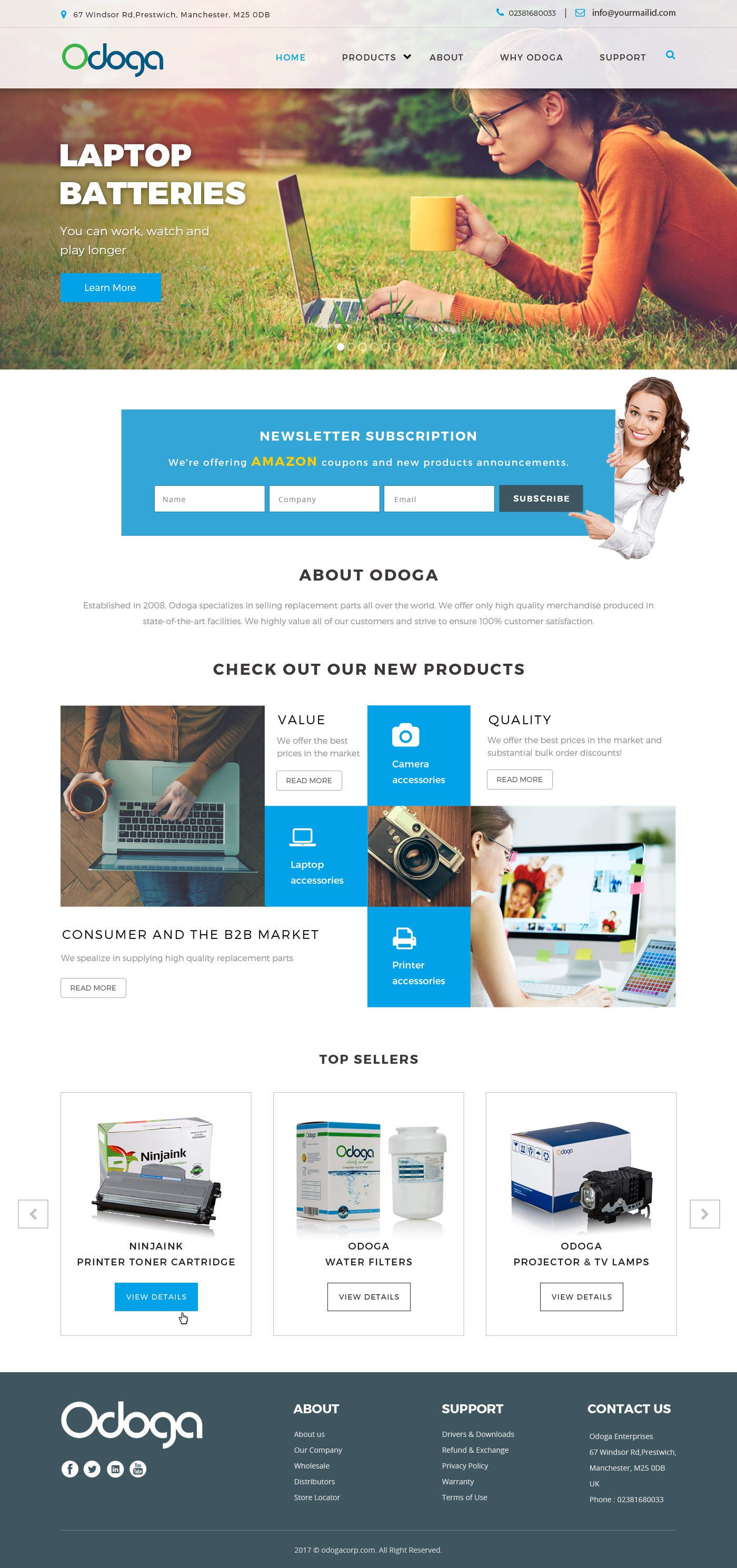 Ecommerce brand needs a new look for its website