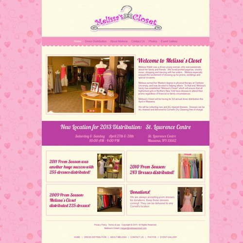 Create a fashionable site for Melissa's Closet