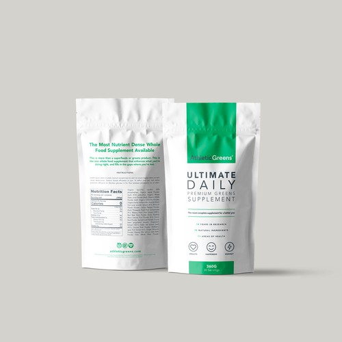 Athletic Greens - Supplement Packaging