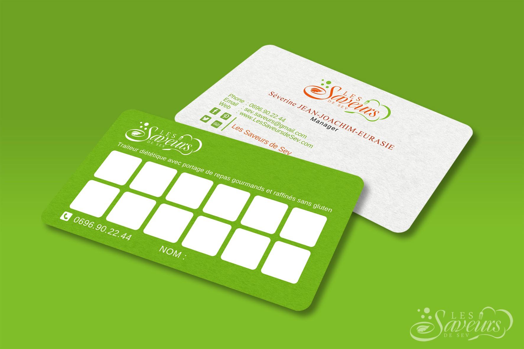 Créer un logo et une carte de visite fun et zen pour un traiteur diététique 2.0 en Martinique