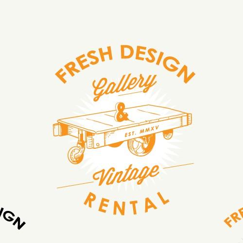 Logo design Fresh Design Gallery & Vintage Rental