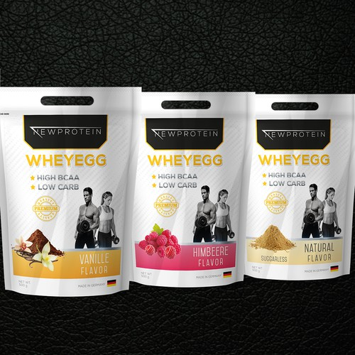 Packaging design for New Protein