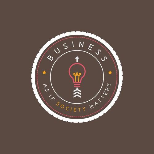 Logo concept for a societal business consultancy company