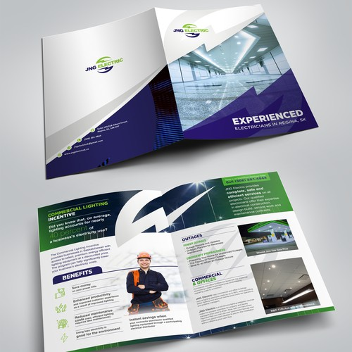 Need a brochure completed to describe my commercial lighting replacement program.