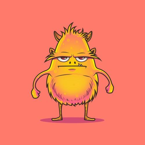 Cute yet menacing monster character