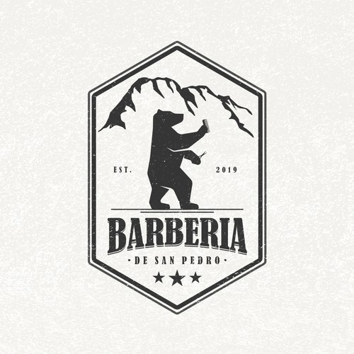 Vintage Logo for Barberia De San Pedro