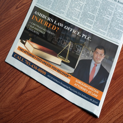 Law firm Newspapaer Ad