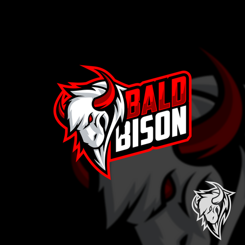 bison logo character for babison