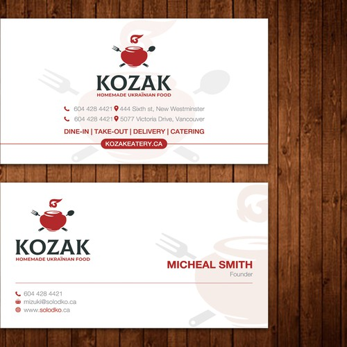 Kozak Business Cards