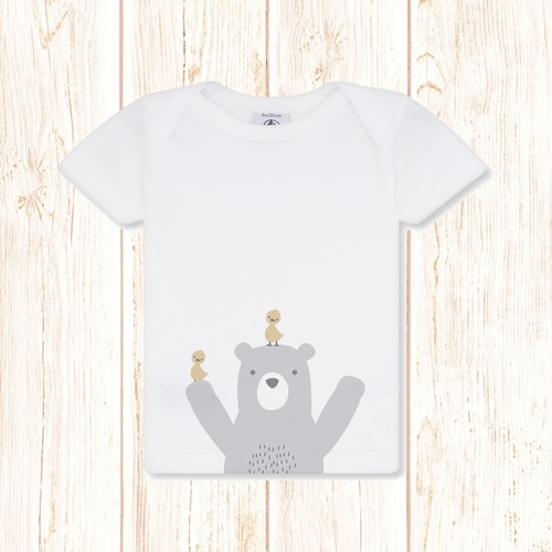 Create cute designs for baby clothes company