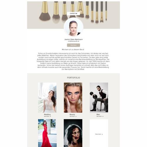 Redesign Makeup Artist Website