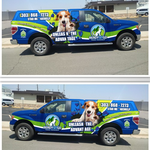 Vehicle Wrap for Dog Training